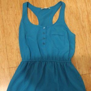 Bright blue breezy dress